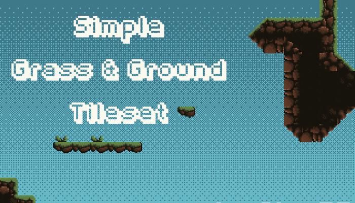 Simple Grass & Ground Pixel Art Tileset 16×16