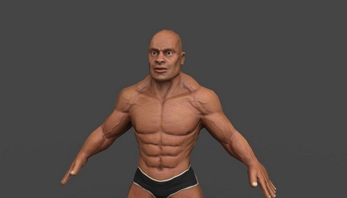 Low Poly MuscleMan Asset For Gaming