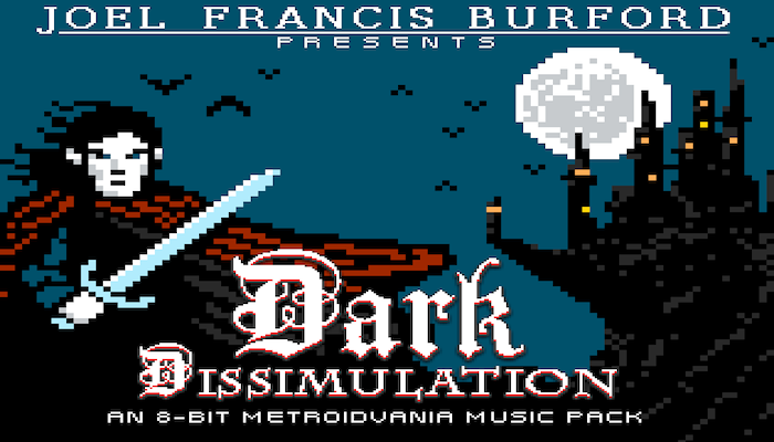 Dark Dissimulation, An 8-Bit Metroidvania Music & SFX Pack
