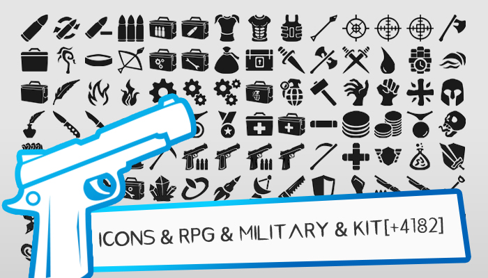 Icons & RPG & Military & KIT[+ 4182]