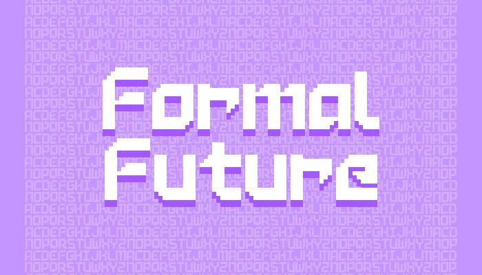 Formal Future – Pixel Font (16×16)