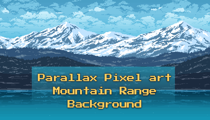 Mountain Range – Parallax Pixel art Background