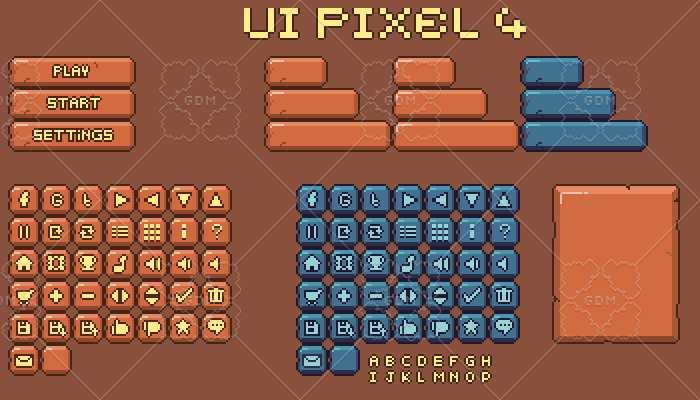UI pixel Assets 4