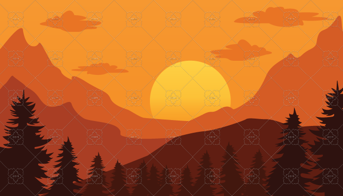 Mountain sunset background