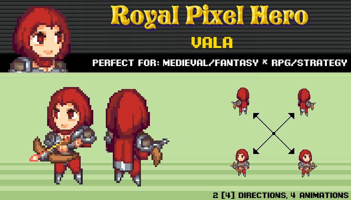 Pixel Art Chibi: Valla / Royal Pixel / Isometric