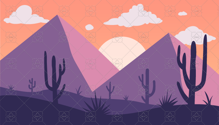 Mountain desert background