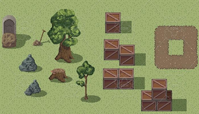 Spring Assets 2d pixel art