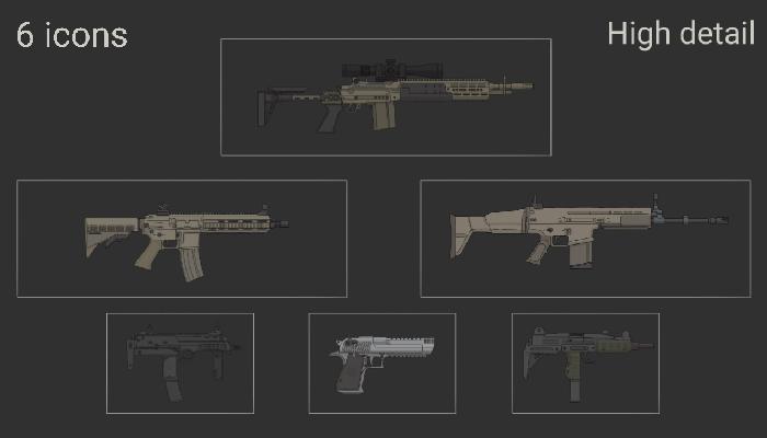 high detail gun pack