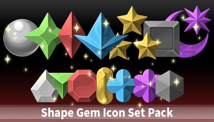 Shape Gem Icon Set Pack