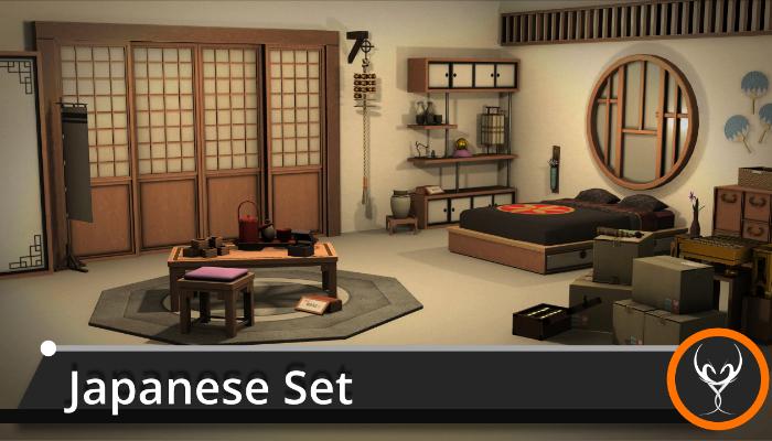Japanese Furniture Set