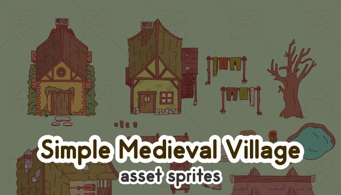 Simple Medieval Village Sprites