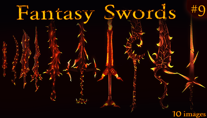 Fantasy Weapon: demonic swords set