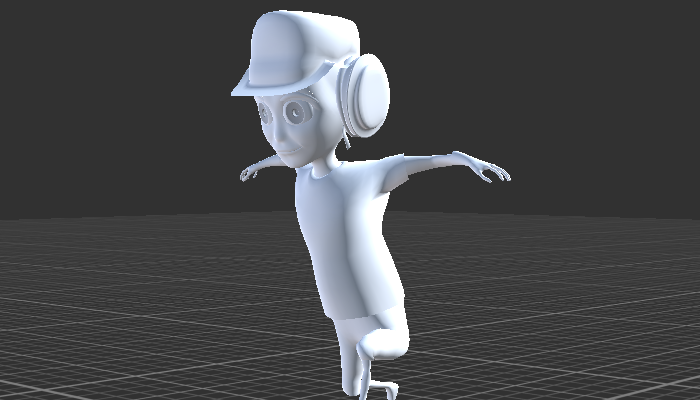 Cartoon Character with Rig and 6 Animations