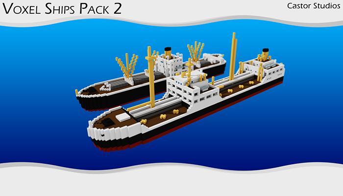 Voxel Ships Pack 2