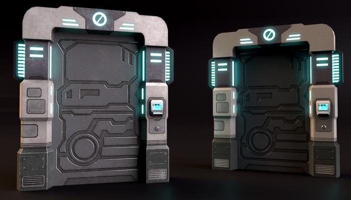 SciFi Doors Pack Vol1