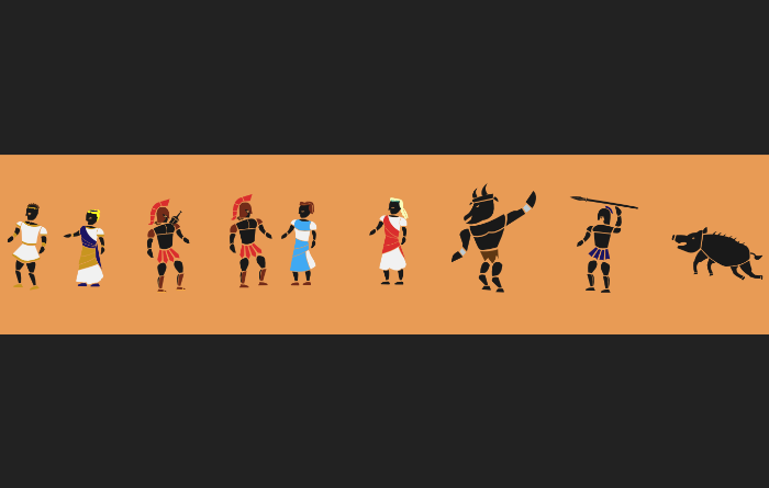 Ancient Greek inspired Vector Characters and Monsters