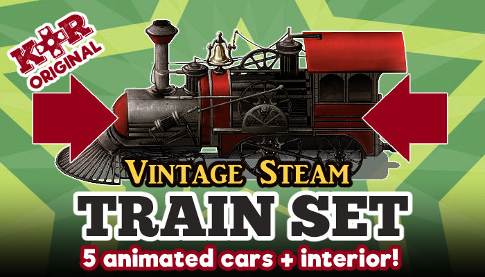 Vintage Steam Train Tileset