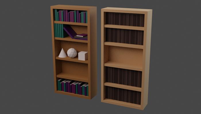 Low Poly Book-shelf