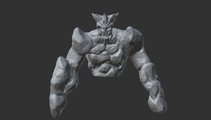 Enemy Golem with Rig and 8 Animations