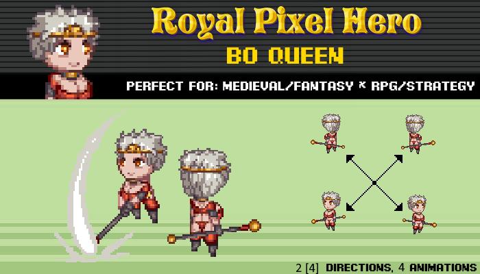 Pixel Art Chibi: Bo Queen / Royal Pixel / Isometric