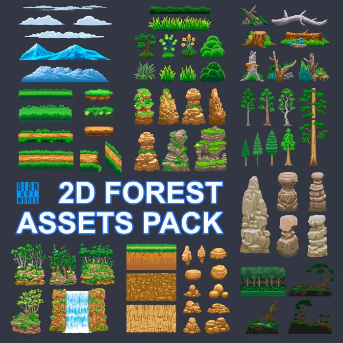 2D Forest Assets Pack