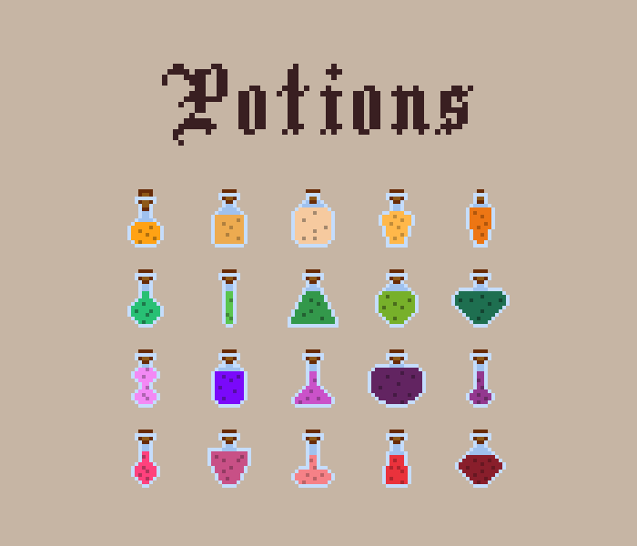 Potions – 16×16