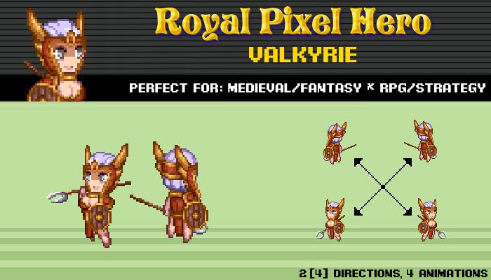 Pixel Art Chibi: Valkyrie / Royal Pixel / Isometric