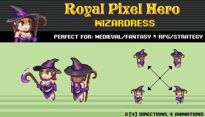 Pixel Art Chibi: Wizardress / Royal Pixel / Isometric