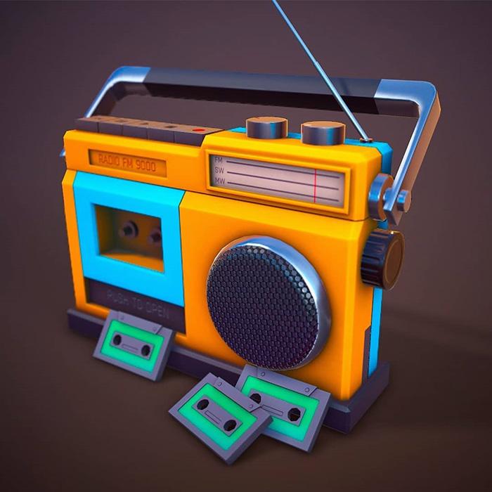 Stylized radio