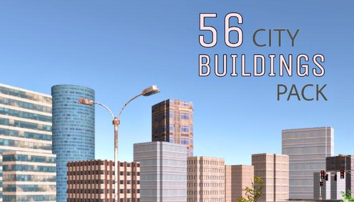 3D City Buildings Pack 2