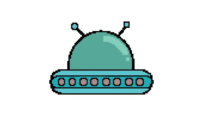 pixel art ufo