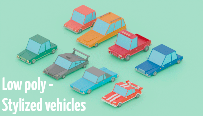 Low poly – Stylized vehicles