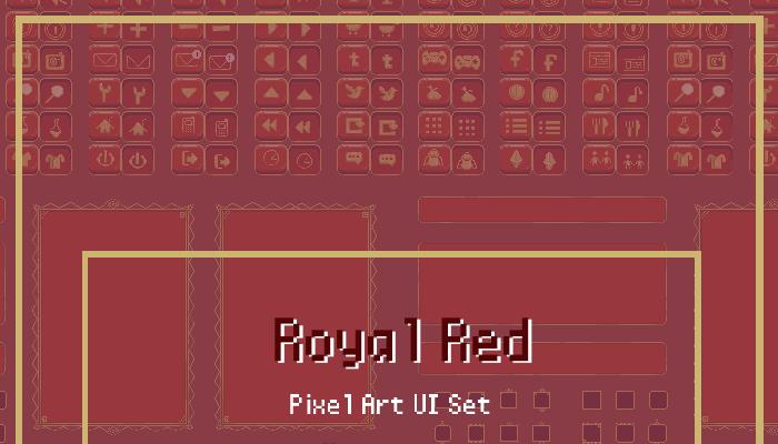 Royal Red Modular Animated Pixel UI