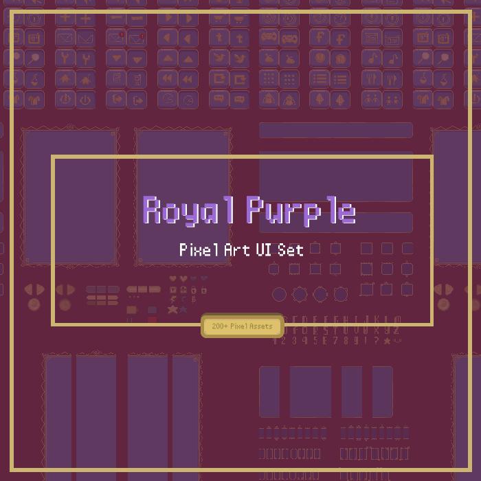 Royal Purple Modular Pixel UI