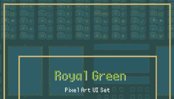 Royal Green Modular Animated Pixel UI