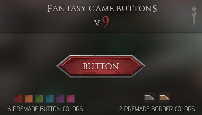 Fantasy Game Buttons V.9