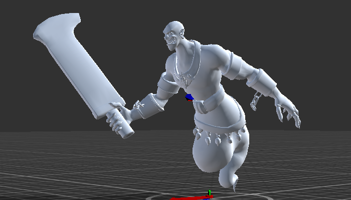 Lamp Genie with Rig and Animation
