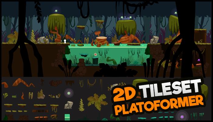 Platformer TileSet Swamp