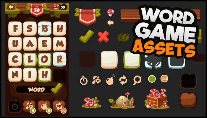 Casual Word Game – Assets