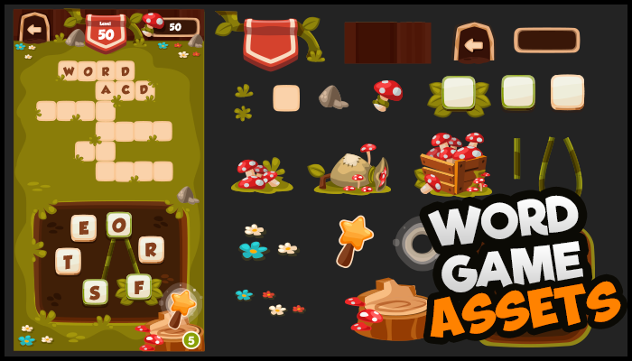 Casual Word Game 2 – Assets