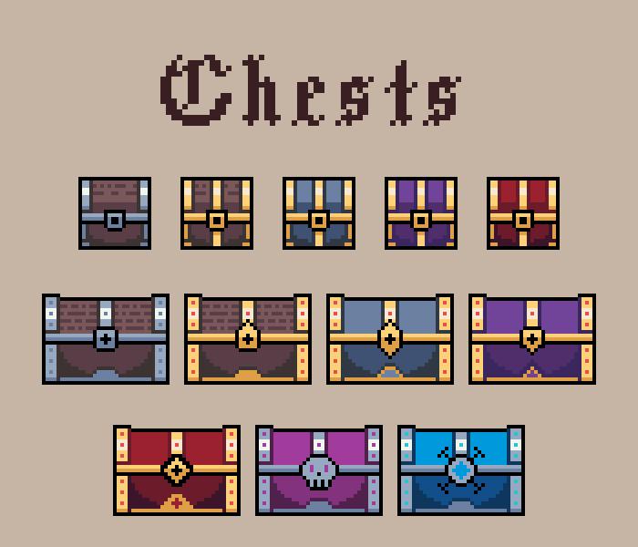 2D Treasure Chests