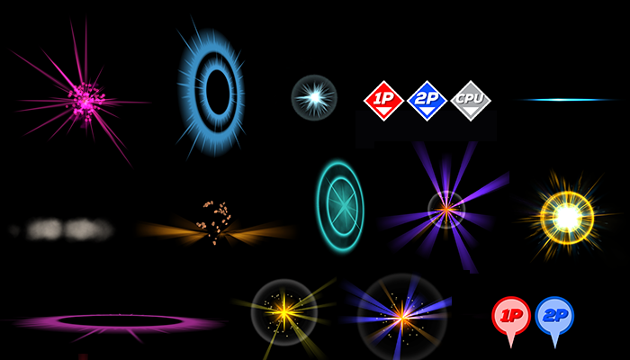 Fighting game effects pack