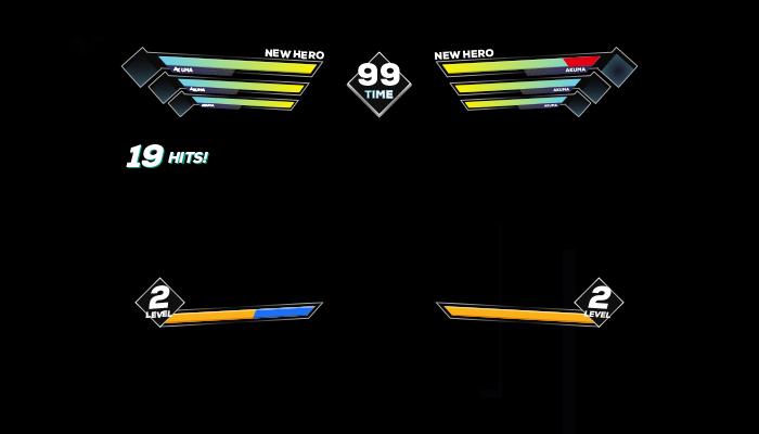 Fighting game lifebars pack