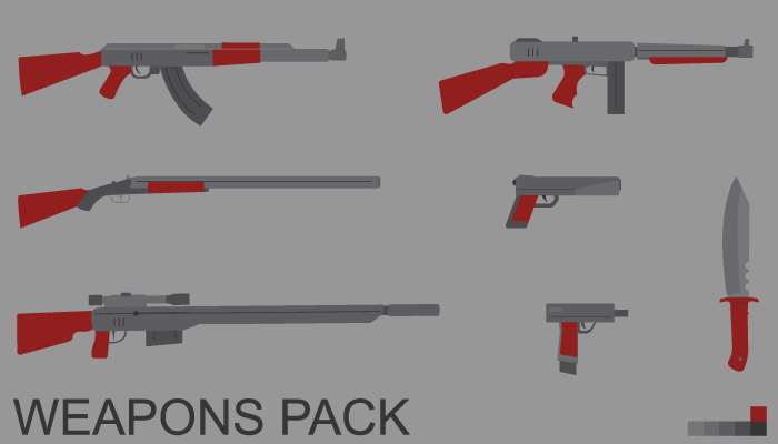 Flat weapons pack