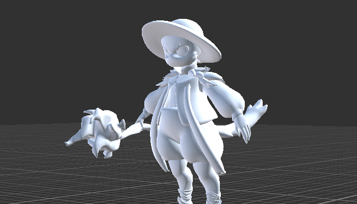 Mage with Rig and Animation