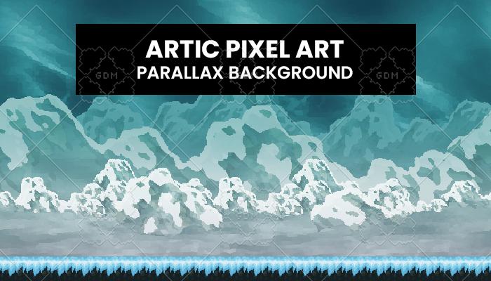 Artic PixelArt Background