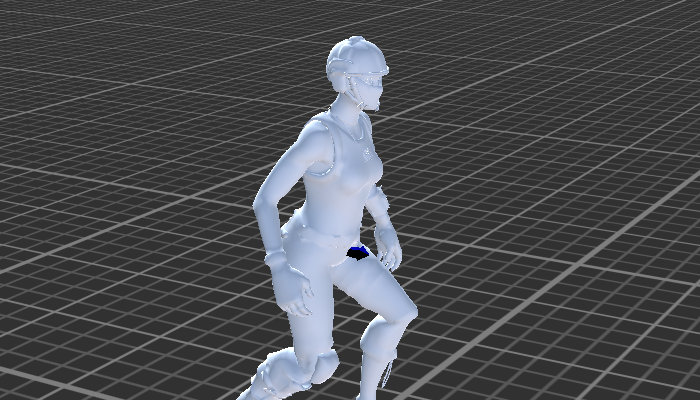 Woman Soldier with Rig and Animation
