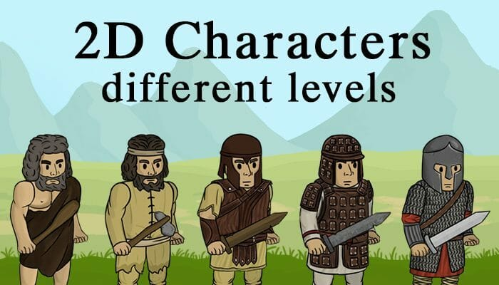 2D CHARACTER different levels
