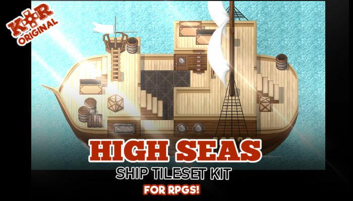 High Seas Ship Tileset for RPGs