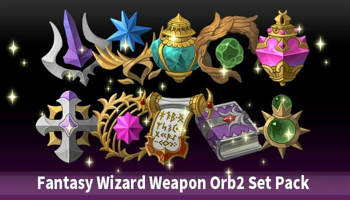 Fantasy Wizard Weapon Orb2 Set Pack